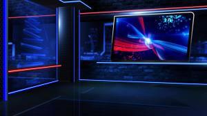 newsroom virtual neon close motion graphics