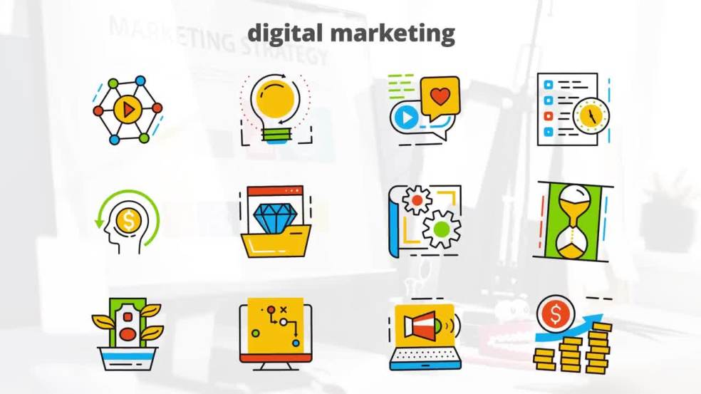 Digital Marketing - Flat Animated Icons: After Effects Templates
