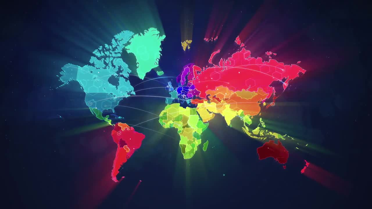 colorful map stock motion
