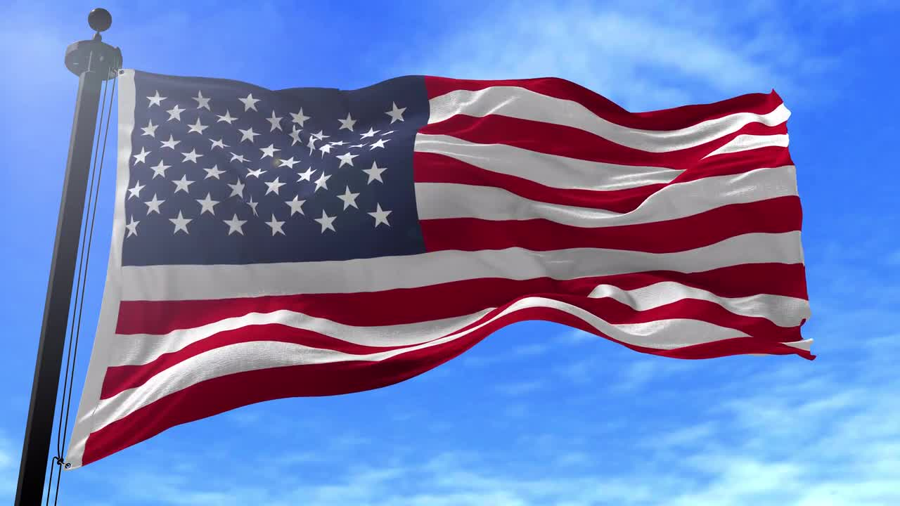 American Flag Animation - Stock Motion Graphics