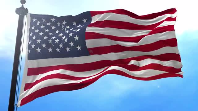 USA Flag Animation - Stock Motion Graphics