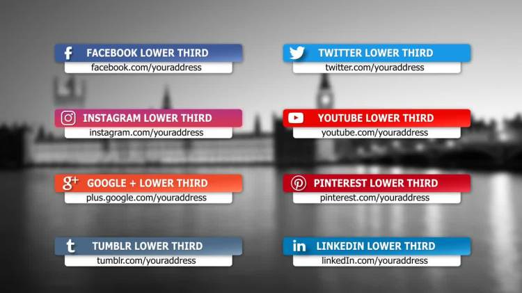 Social Media Lower Third Package After Effects Templates Motion Array