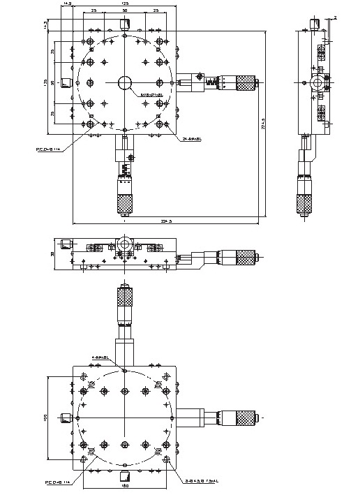 manual thin linear positioning stage