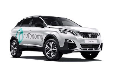 Groupe PSA Partners nuTonomy to Test Fully Autonomous Vehicles in Singapore Peugeot 3008