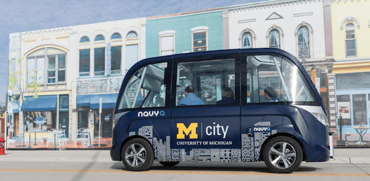 NAVYA will Build ARMA Fully Autonomous Vehicles in Michigan United States America self driving electric shuttle level four