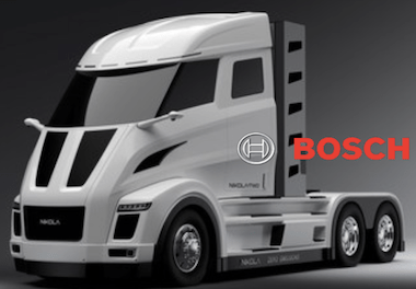 Nikola and Bosch to Develop the Commercial Vehicle Electric Powertrain truck sustainable transportation logistic
