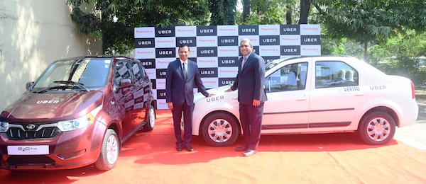 Mahindra Uber Announces Partnership to Electrify Ride-sharing in India Electric vehicle ride hailing sustainable urban mobility