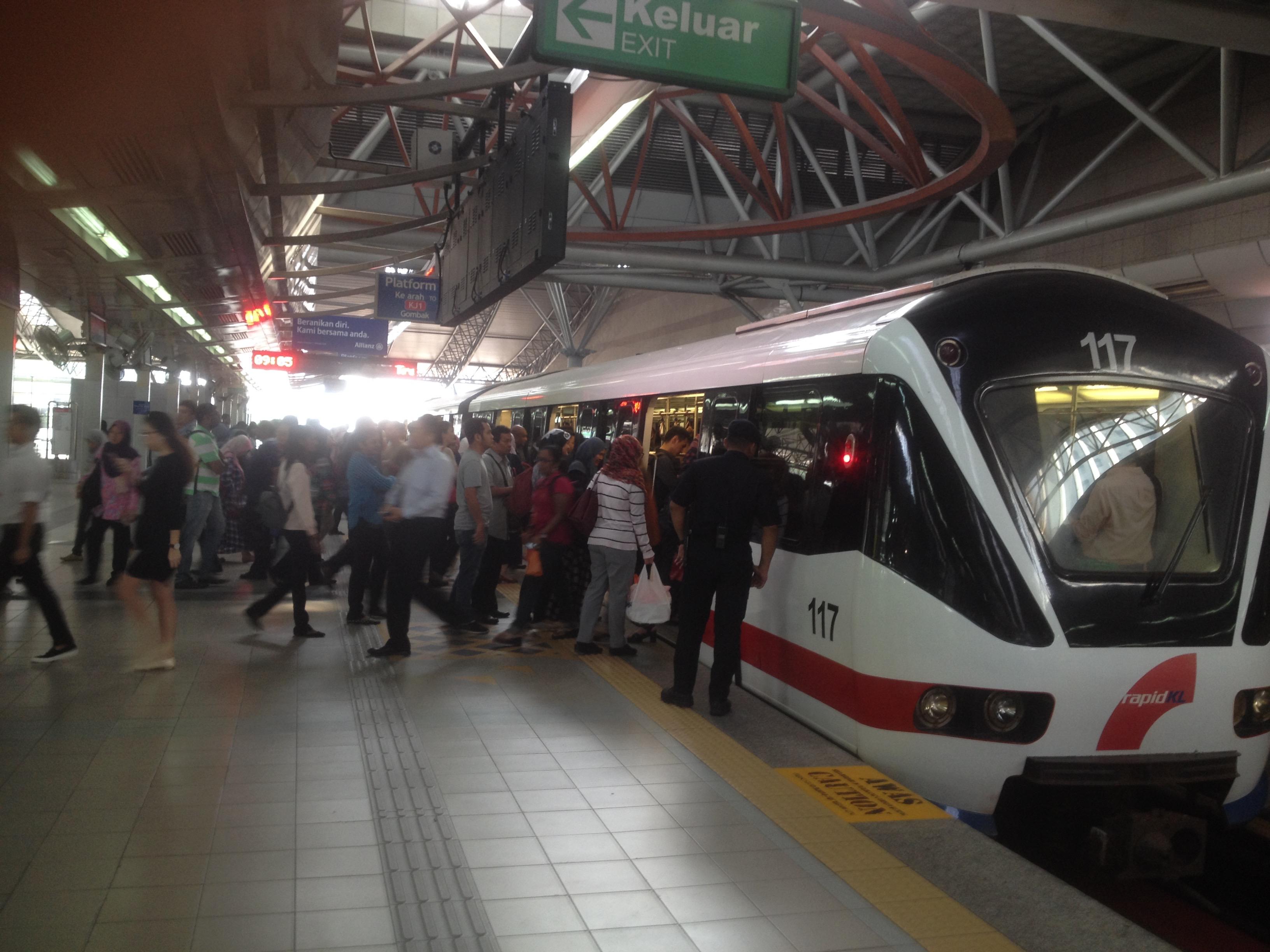 Malaysia Public Transportation Push increase capacity urban mobility LRT transit Ampang Line