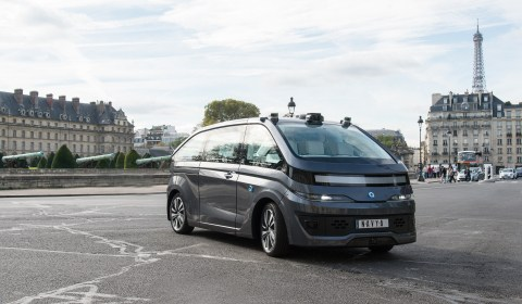 NAVYA Unveils First Fully Autonomous vehicle electric Taxi cab in Paris sustainable urban mobility