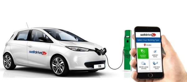 Selfdrive.ae Launches Electric Car sharing for 5 AED per hour in Dubai sustainable urban mobility