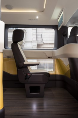 VW Startup MOIA Presents World First Electric Ride-sharing hailing Six Seater Car Van shuttle sustainable urban mobility