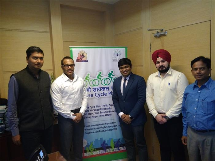 MoU Signed between bike bicycle sharing ofo and Pune Municipal Corporation representatives city wide cycling path network sustainable urban mobility