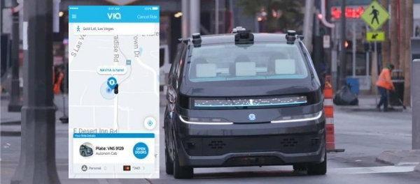 NAVYA Partners Via To Introduce Autonomous Ride Hailing App robo-cab taxi urban mobility