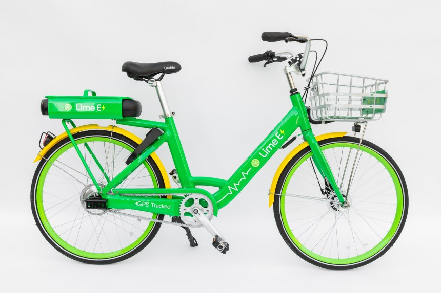 Smart Bike-sharing LimeBike Launches Largest Electric Assist Bike Fleet in US Lime-E PMD