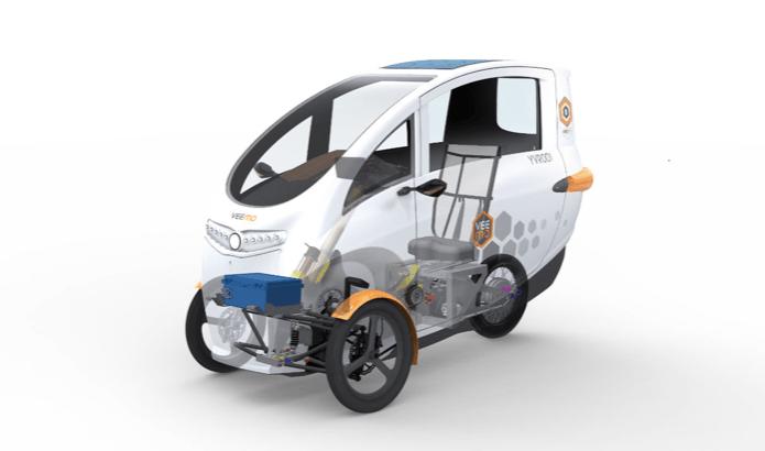 Velometro Veemopatented pedal-electric drivetrain NMT electric bike sharing