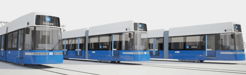 Bombardier Unveils New FLEXITY Zurich Tram Design electric sustainable urban mobility