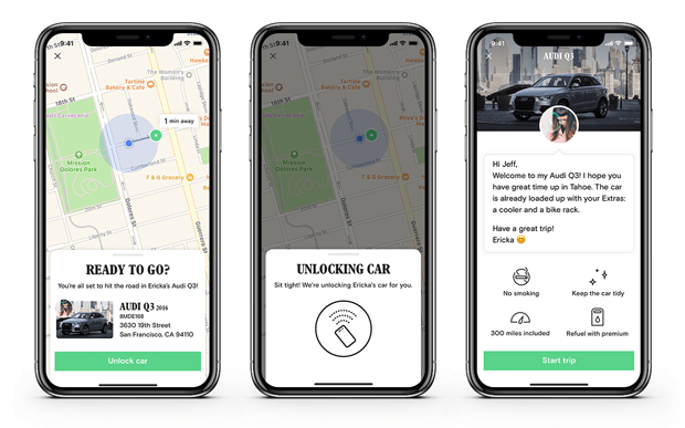 Turo unlocks the future of car sharing with Turo Go app UX smart shared mobiity