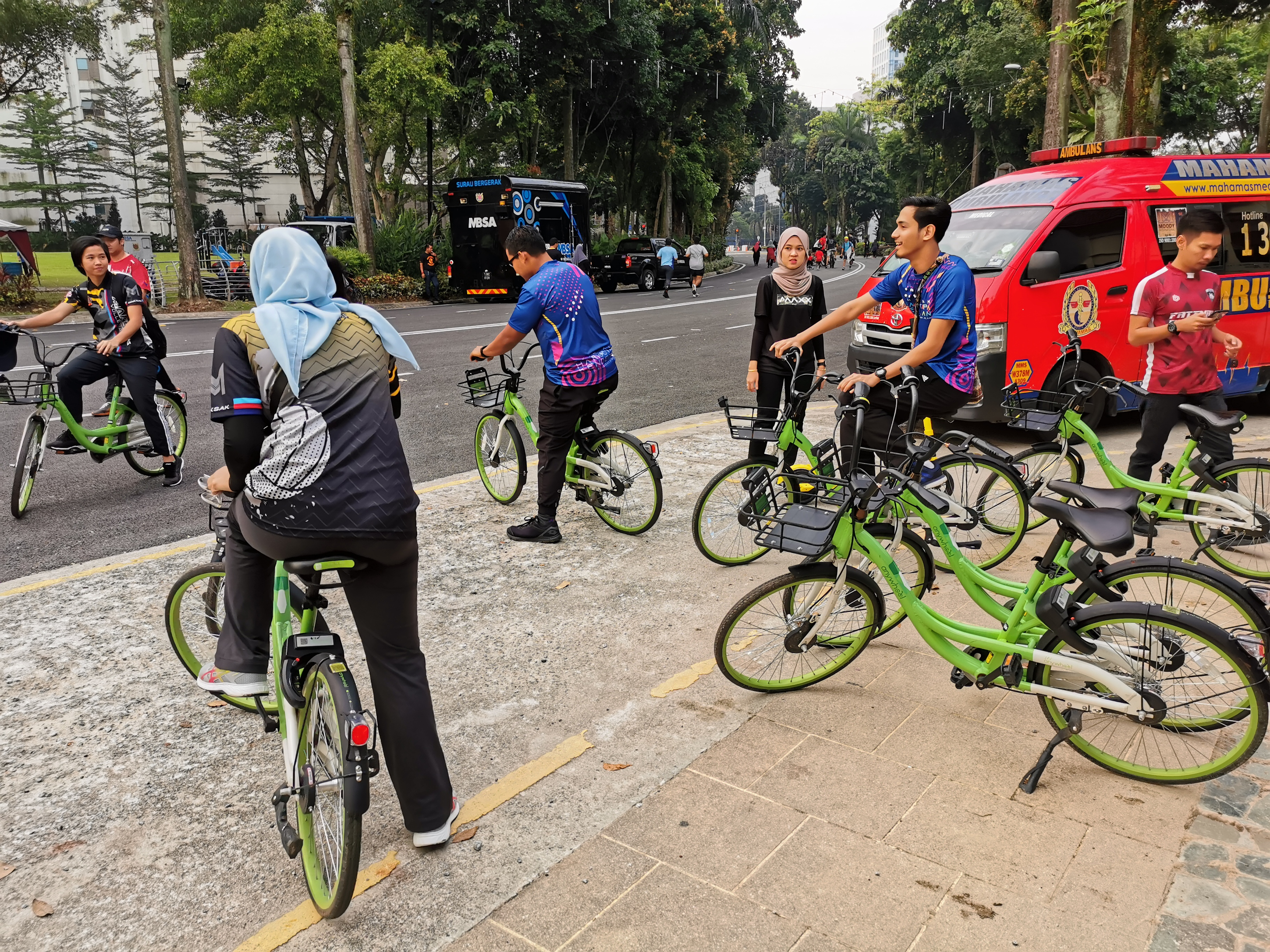 Anywheel launch in Shah Alam conjunction with Car free day