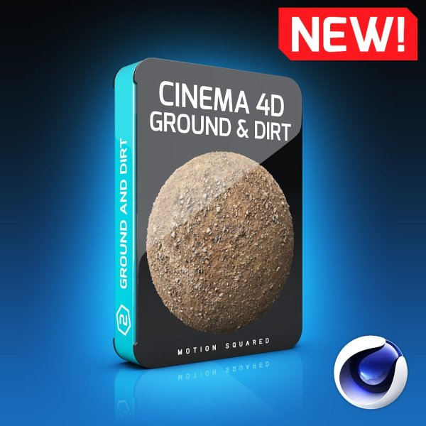 Cinema 4D Ground and Dirt Texture Pack