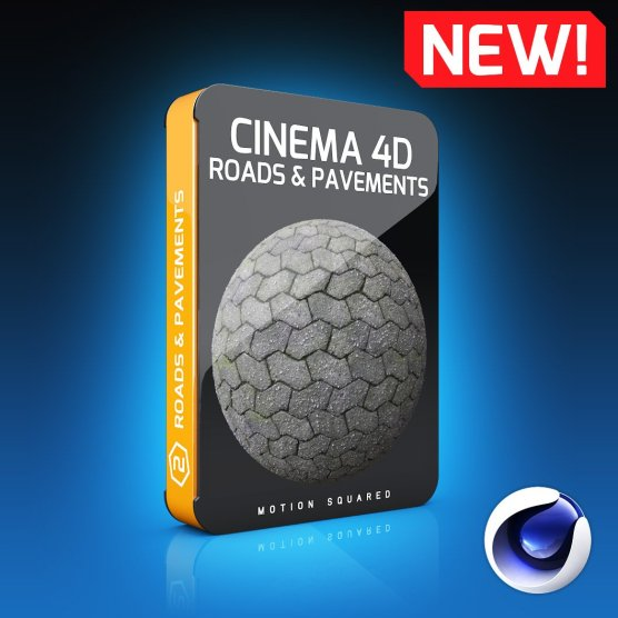 Cinema 4D Roads And Pavements Texture Pack