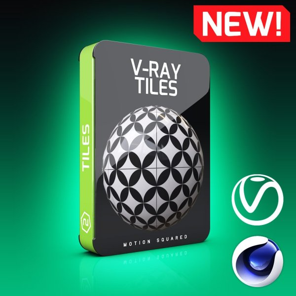 V-Ray Tiles Texture Pack for Cinema 4D - MOTION SQUARED