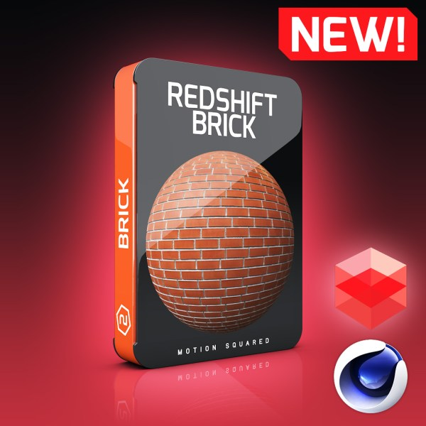 Redshift Brick Materials Pack for Cinema 4D