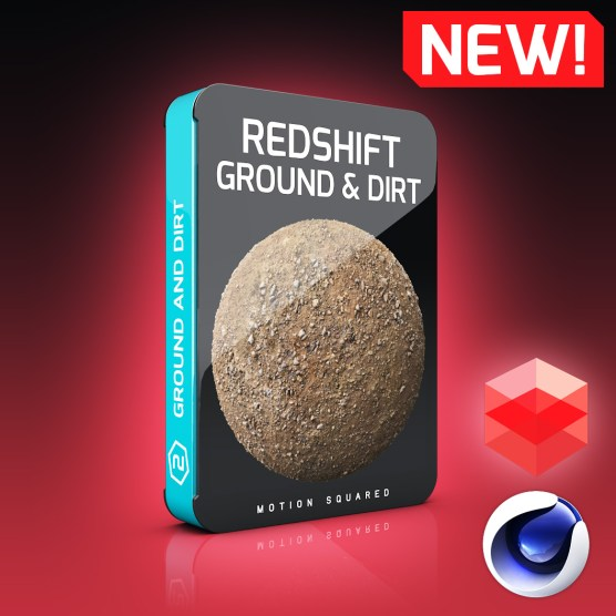 redshift ground and dirt Materials Pack for Cinema 4D