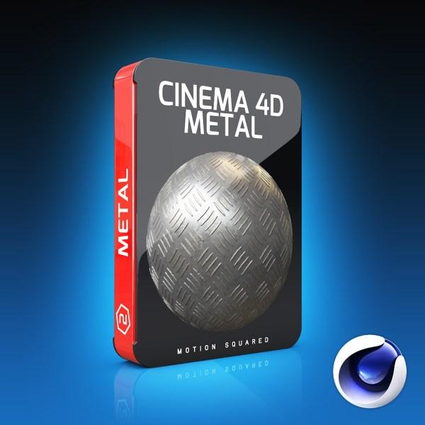 Cinema 4D Metal Materials Pack - MOTION SQUARED