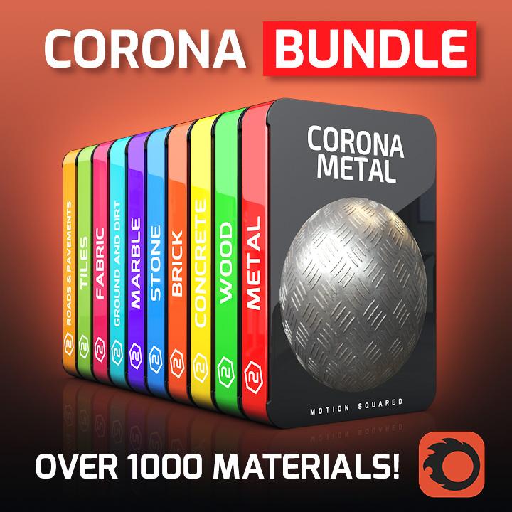 Corona Material Packs Bundle for Cinema 4D - MOTION SQUARED