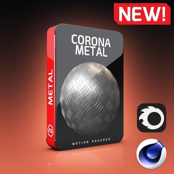 Corona Metal Materials Pack for Cinema 4D