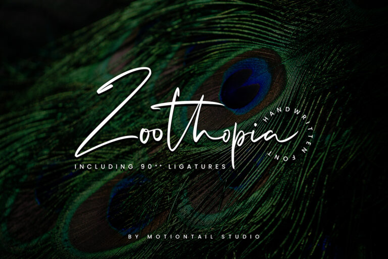 Preview image of Zoothopia – Script Modern Font