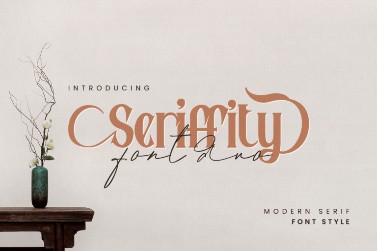 Preview image of Seriffity Duo – Modern Serif Script Font