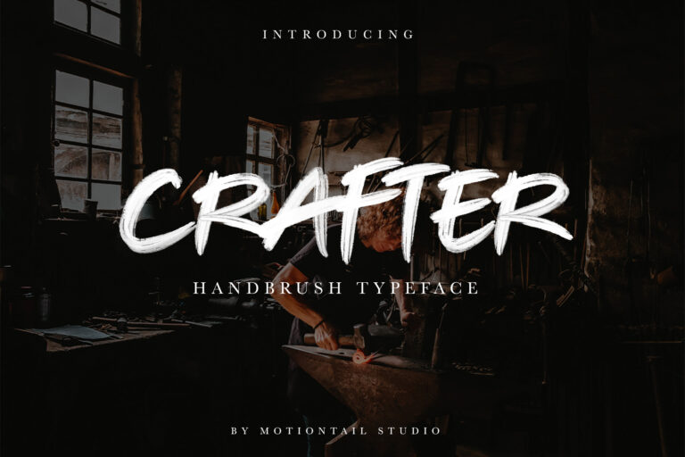 Preview image of Crafter – Brush Typeface