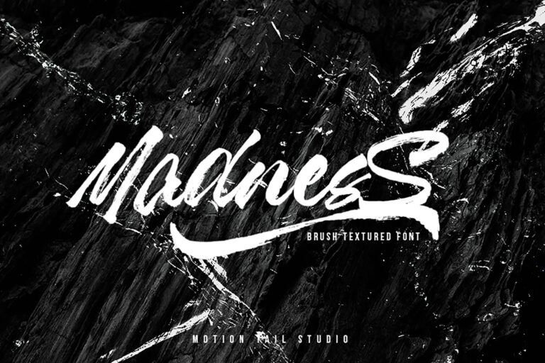 Preview image of Madness – Textured Brush Font
