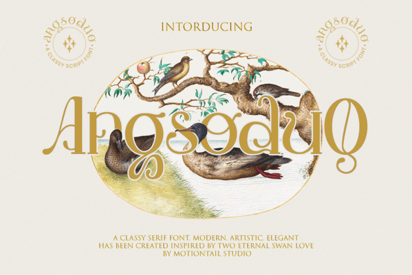 Preview image of Angsoduo Mt – serif font