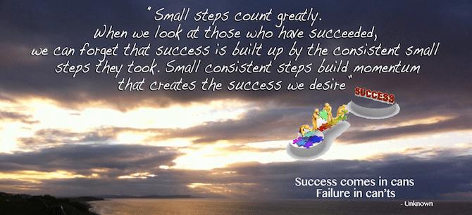 Successsmall steps