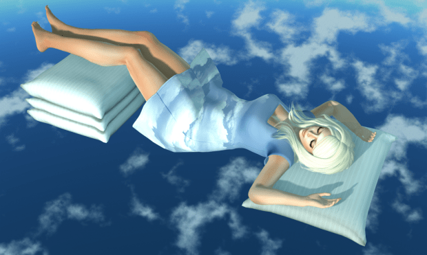 Sleeping on clouds