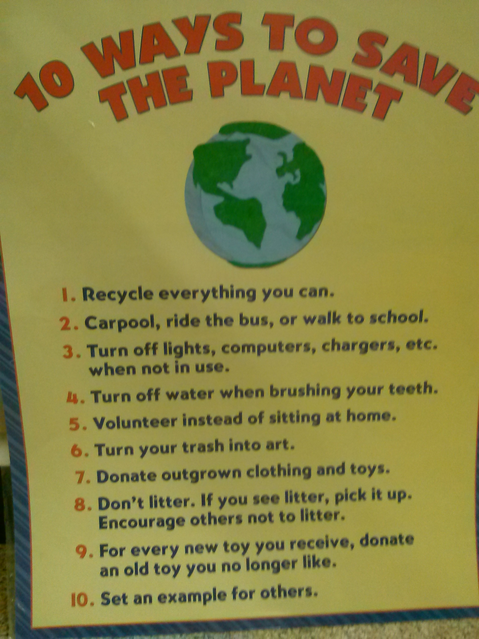 10 Ways To Save The Planet
