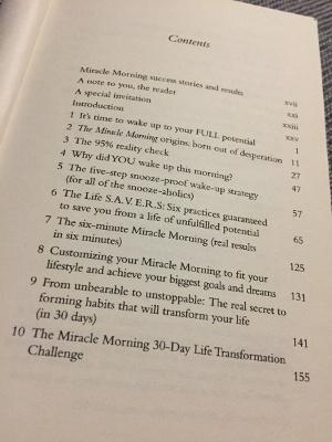 Morgenroutine erfolgreicher Menschen - Inhaltsverzeichnis