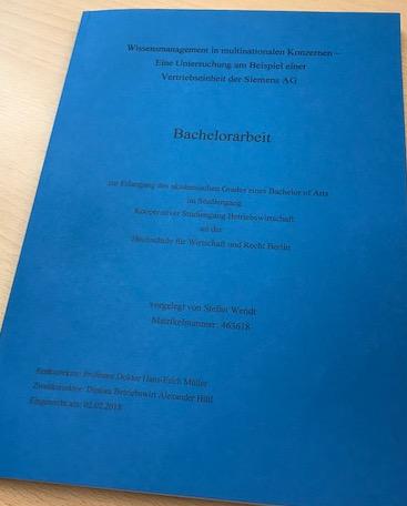 Bachelorarbeit schreiben - Meine Bachelorarbeit