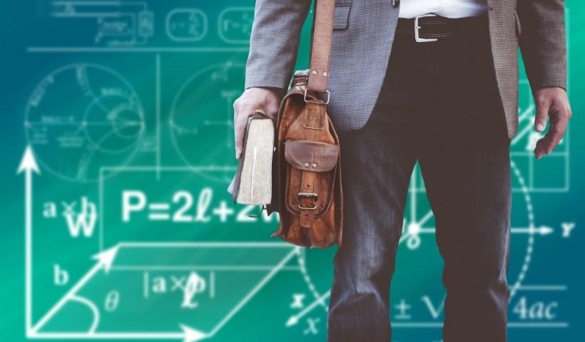 teacher with bag