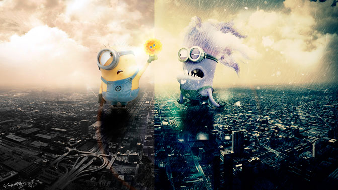 Good or bad day minions