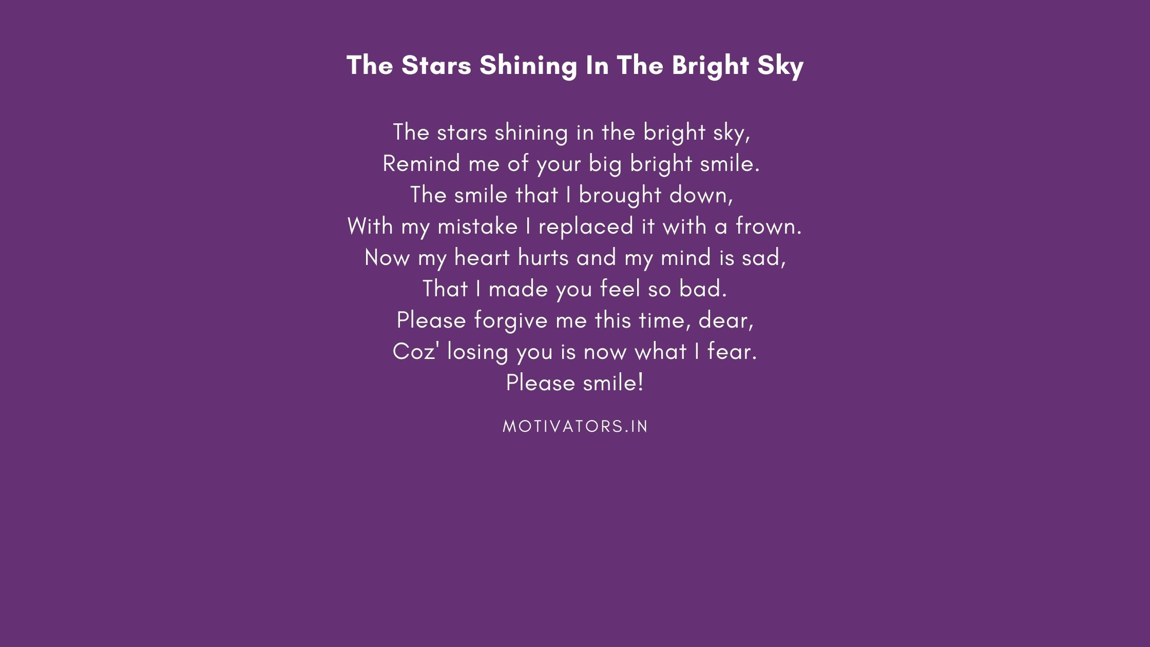The Stars Shining In The Bright Sky