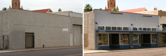 The Liefgreen Seed Co. Building was considered ineligible for tax credits until its storefronts were uncovered and restrored