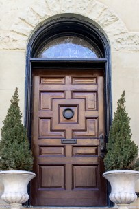 wood geometric door (1 of 1)