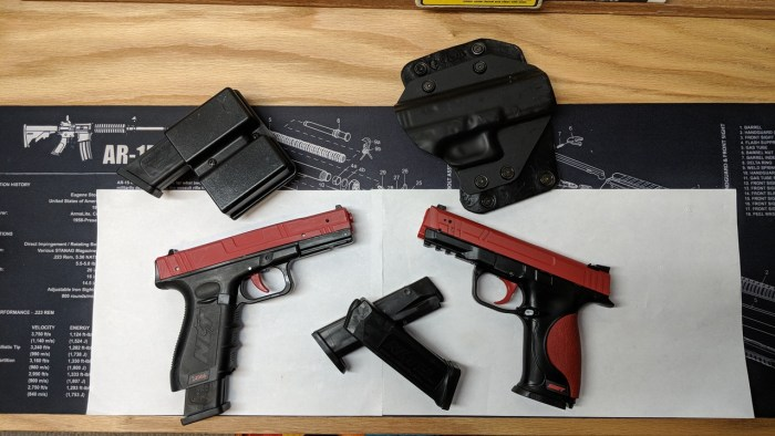 SIRT pistols have a wide range of training uses.