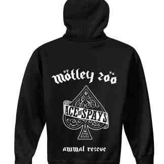 Ace of Spays hoodie Back model