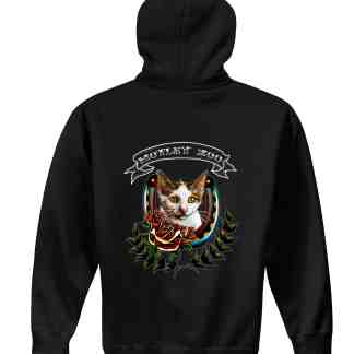 CAT hoodie back motley zoo animal rescue bydfault