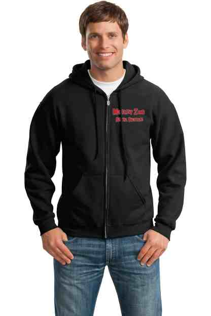 Mispits hoodie front motley zoo animal rescue bydfault