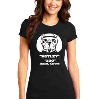 WOMEN SHIRT FRONT DOG MOTLEY ZOO ANIMAL RESCUE BYDFAULT